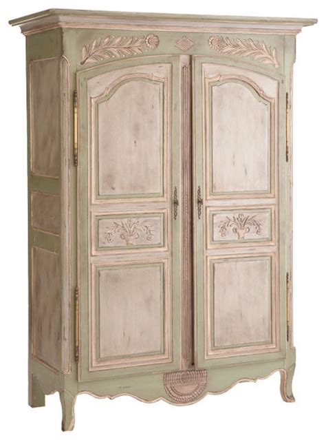 carved laurel leaf office armoire traditional armoires