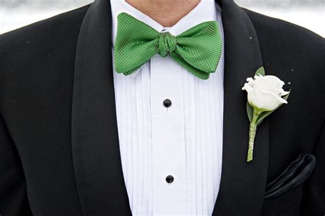 weddings by color green black tie groom bow tie onewed