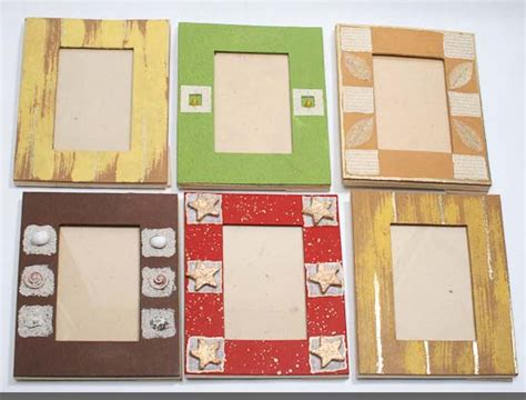 How To Make Photo Frames With Handmade Paper - handmade paper crafted picture frame picture frames