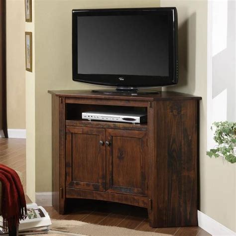 corner tv stand rustic corner tv stand plans woodworking projects plans
