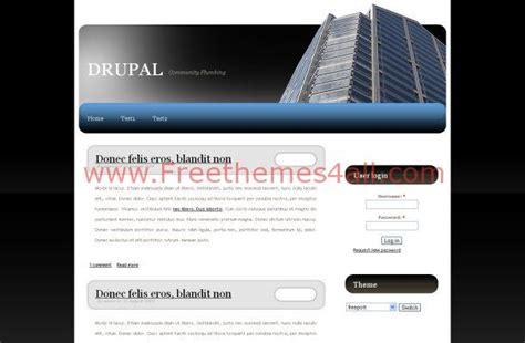 drupal themes with slider free download free drupal 7 business black white theme template download