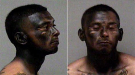 spray paint faces california allegedly spray paints black to escape