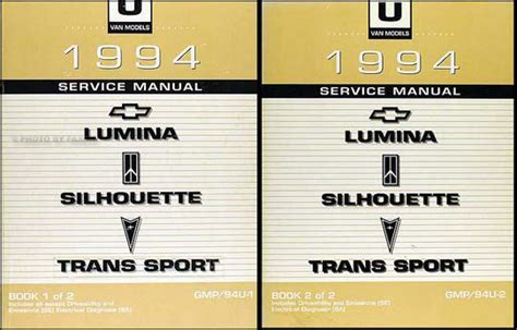 free service manuals online 1994 pontiac trans sport on board diagnostic system 1994 lumina van silhouette trans sport shop manual set chevy oldsmoible pontiac ebay