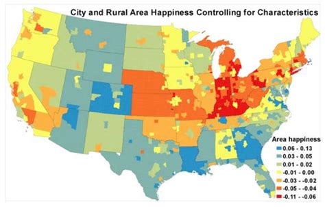 happiest state in the us map the happiest places in america vox