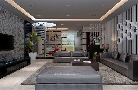 modern interior design living room 3d house