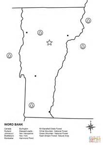 vermont map coloring page vermont map worksheet coloring page free printable