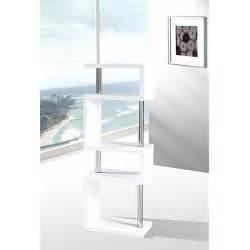 Miami Slim High Gloss Shelving Unit White 16403 Furniture
