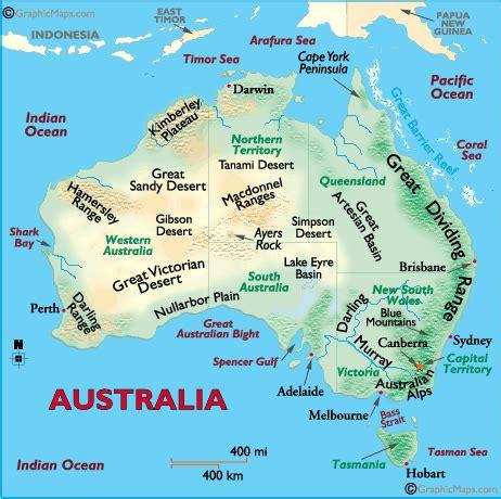 australia river map australia landforms and land statistics
