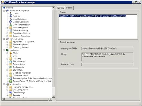 console inf lab sccm 2012 console info