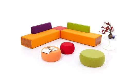 Office Furniture Colorful Modern Lobby Sofa Design Fabric Modern Office Sofa Designs