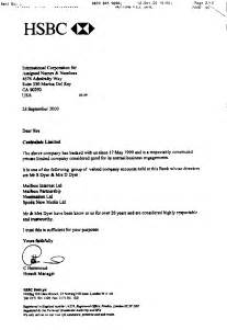 Certification Letter Hsbc Certification Letter Hsbc Hsbc Experience Certificate