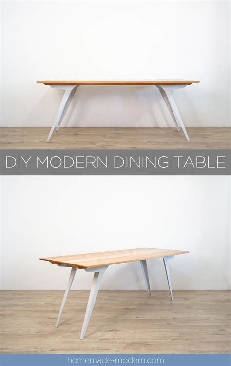 diy modern dining table modern ep126 diy modern dining table