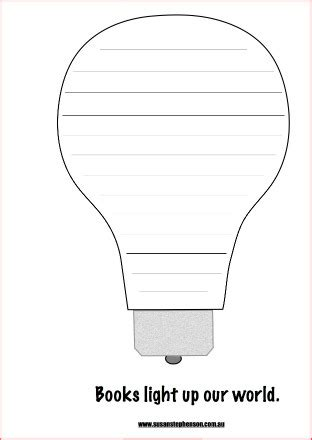 light template pdf lightbulb template children s book week 2015