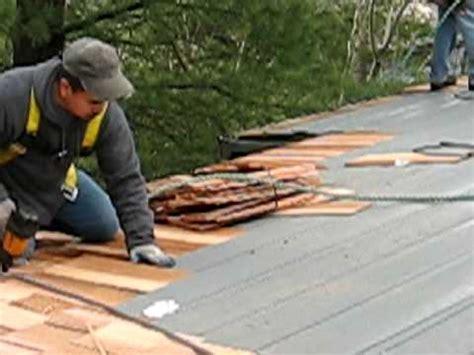 portland cedar shake roof installation part  roof life