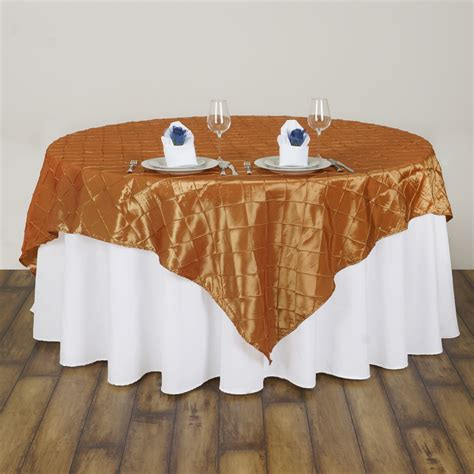10 pcs 72x72 quot square pintuck table overlay wedding linens