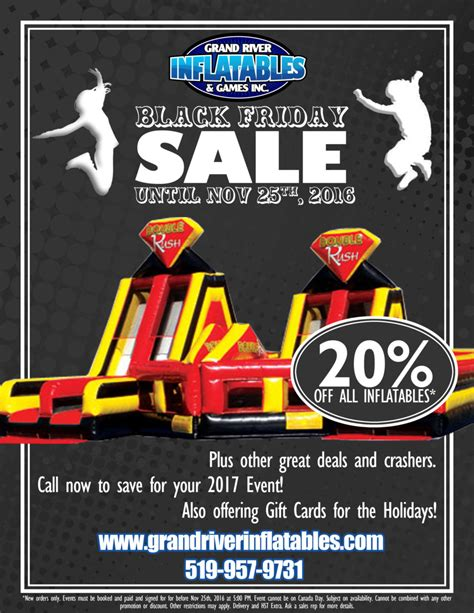 black friday 2016 grand river inflatables