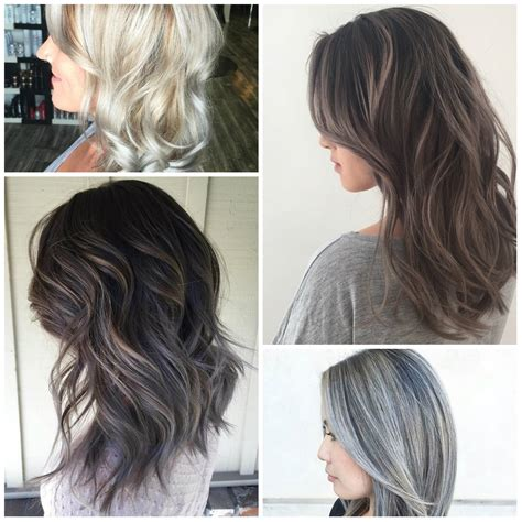 highlights to hide white hair stunning grey hair color ideas for 2016 2017 best hair