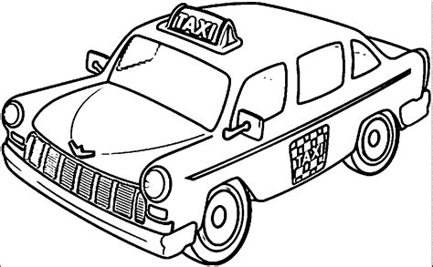 taxi car coloring page taxi and taxi driver coloring pages wecoloringpage