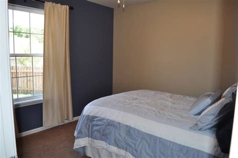 our guest bedroom paint colors sherwin williams distance the blue wall and barcelona beige