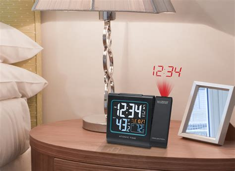 la crosse technology 616 146 atomic color projection alarm clock new free shi ebay