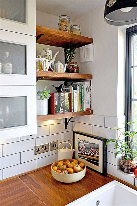 kitchen corner shelves ideas 65 ideas of using open kitchen wall shelves shelterness