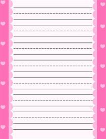 Heart Writing Paper Heart Lined Paper Related Keywords Amp Suggestions Heart
