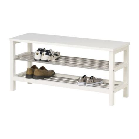 shoe bench ikea tjusig bench with shoe storage black