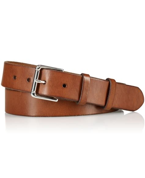polo ralph s west end leather belt in brown for
