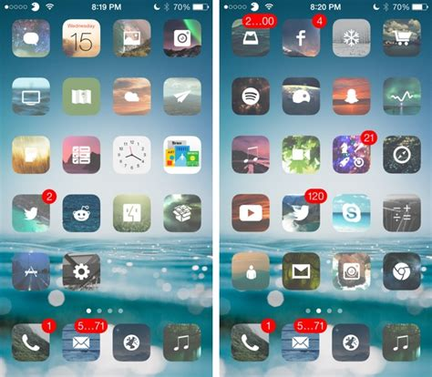 themes for iphone 5s winterboard m flat one of the best ios 7 themes