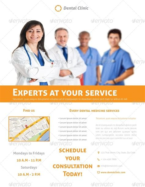 dental clinic flyer template by carlos fernando graphicriver