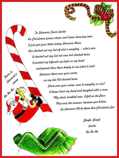 free printable letters from santa letters from santa jvwithmenow