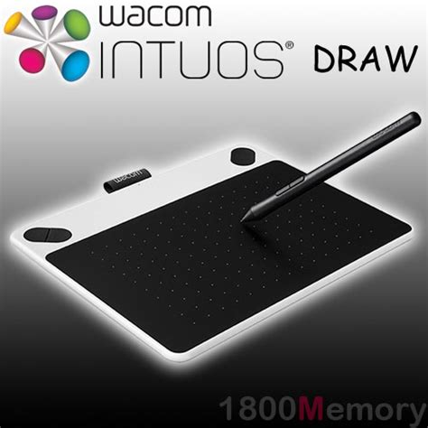 wacom intuos draw pen small tablet ctl 490 white bundle