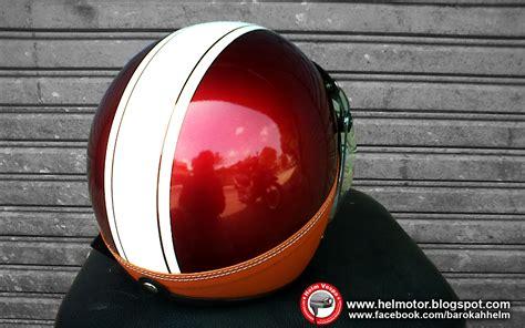 Bogo H K Merah helm bogo ksc merah garis putih
