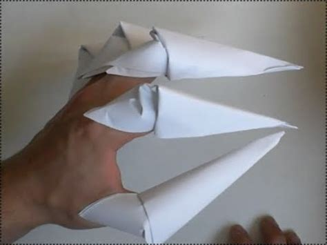 How To Make Origami Wolverine Claws - how to make paper claws origami finger claws