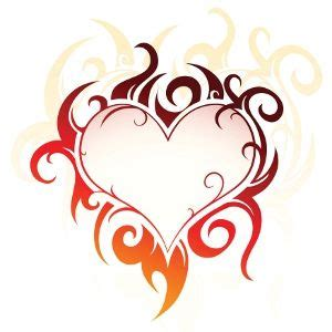 flaming heart tattoo designs flaming tribal tattoos and