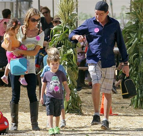 charlie sheen house charlie sheen and denise richards take their blended brood out to enjoy the halloween