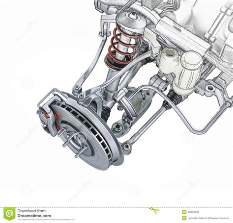 car front suspension multi link front car suspension with brake stock