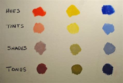 tone color definition stapleton kearns tints shades and tones