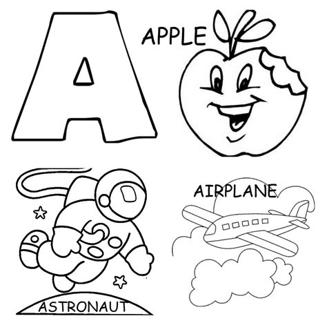 free coloring letter a coloring pages