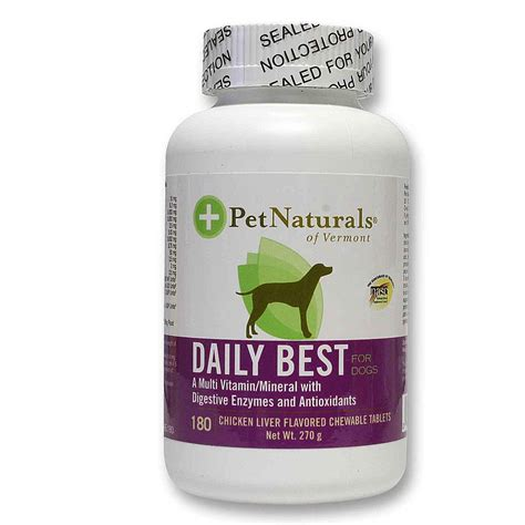 best multivitamin for dogs pet naturals of vermont daily best for dogs multivitamin 180 tablets evitamins india