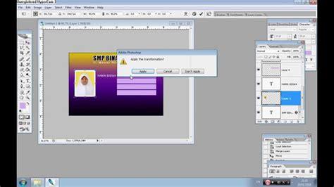 membuat id card sederhana membuat desain id card dengan mudah dan sederhana youtube
