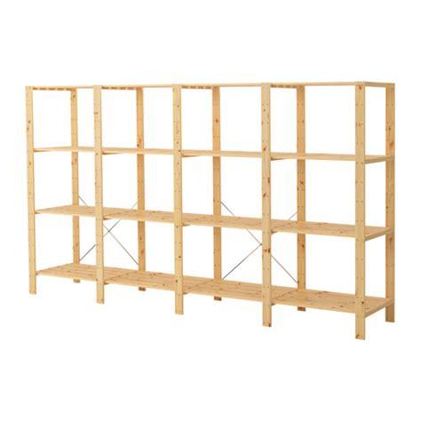 Ikea Storage Racks Hejne 4 Sections Shelves Ikea