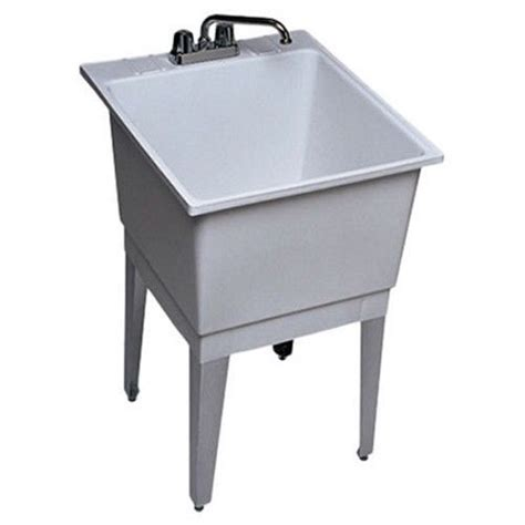 free standing utility sink free standing laundry utility room sink single bowl white