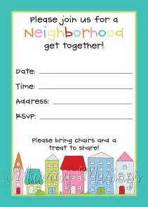 block invitation template neighborhood block invitation freeprintable