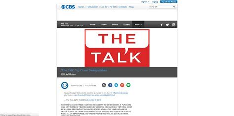 The Talk Giveaways - thetalk com top chen list giveaway