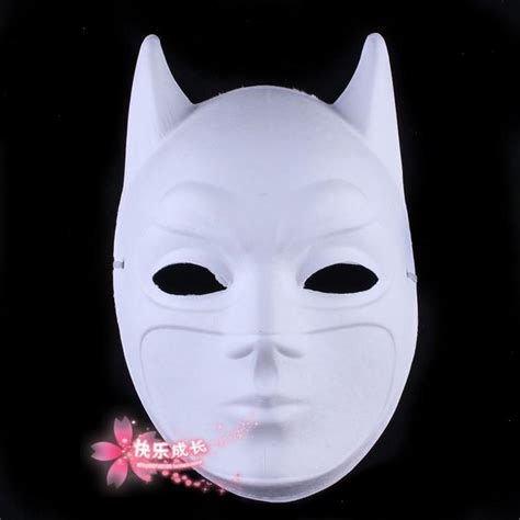 Paper Mask For - environmental paper pulp blank white batman masks for
