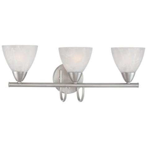 home depot light fixtures bathroom thomas lighting tia 3 light matte nickel bath fixture