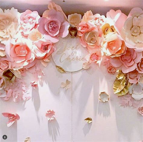 Wedding Backdrop With Paper Flowers by Paper Flowers Backdrop Paper Backdrop