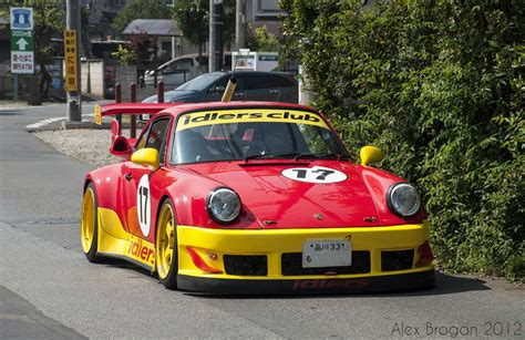 rwb porsche yellow spotted red yellow rwb porsche 964 cars