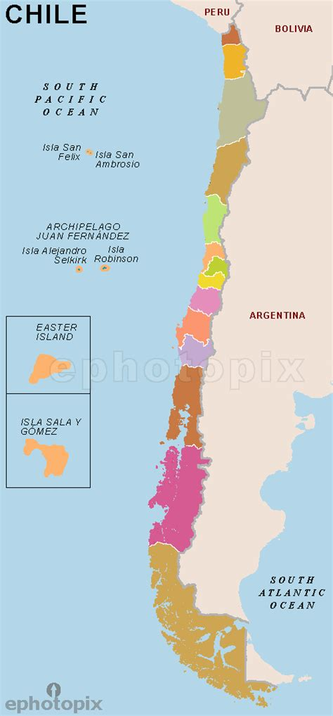 chile regions map political map of chile chile regions map the